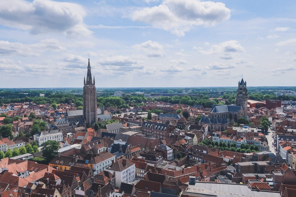 panoramic views from the Belfry of Bruges