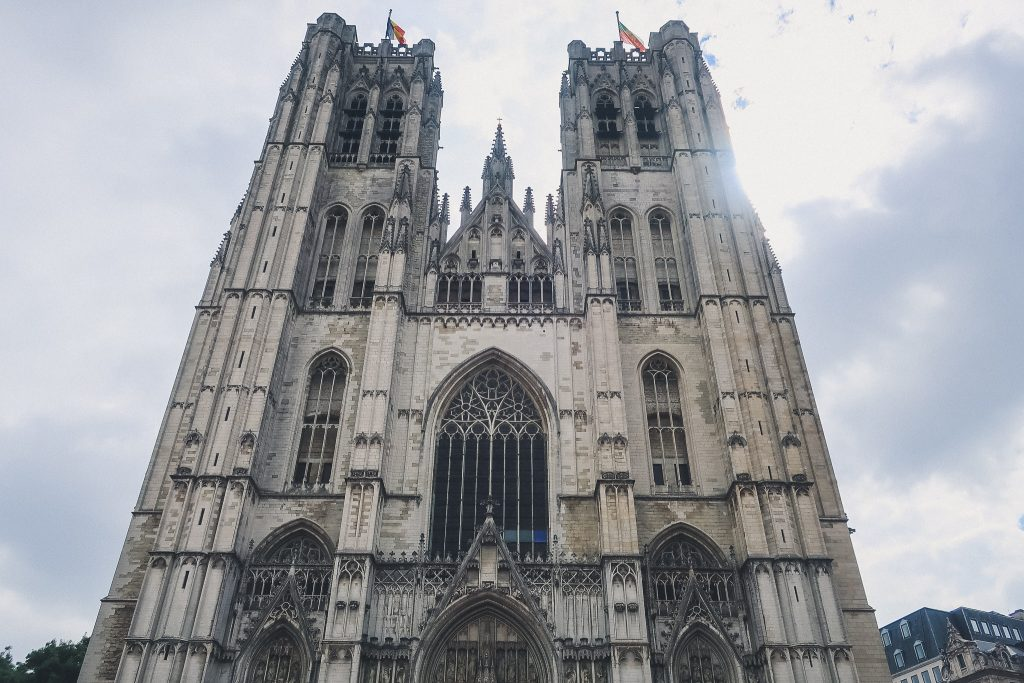 Brussels Cathedral facade, Barbantine Gothic