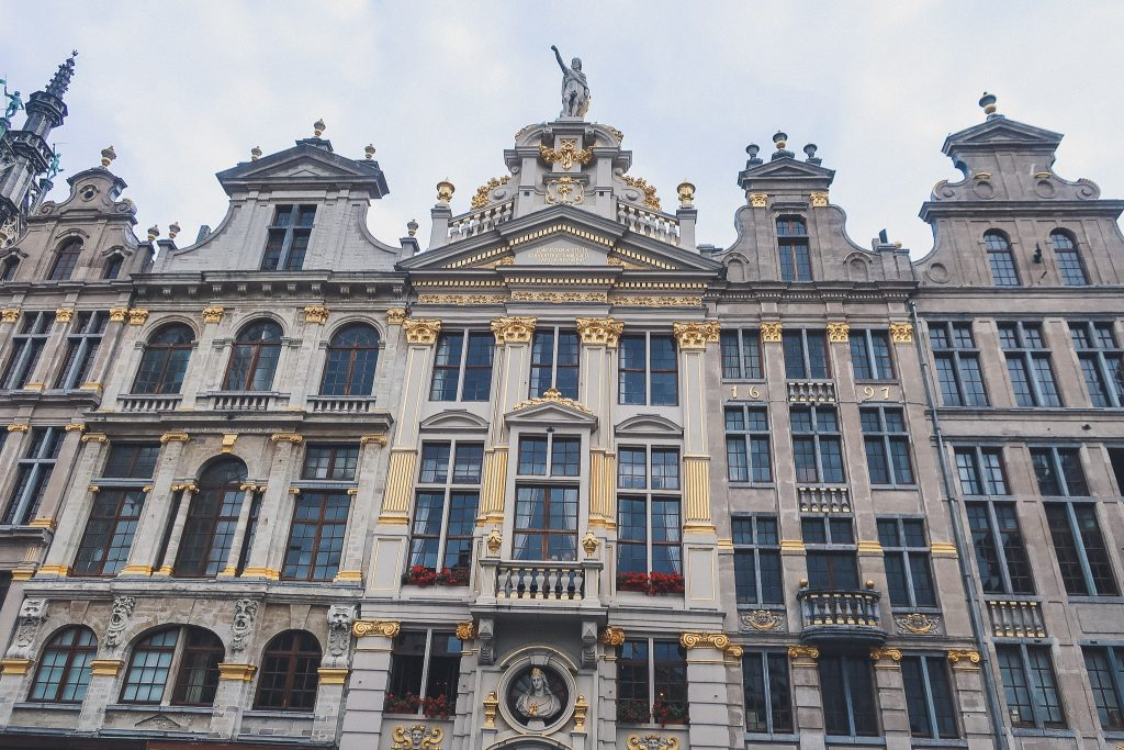 Buildings in the Grand Place Brussels