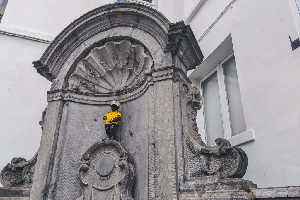 Manneken Pis dressed up for the Tour de Francethe