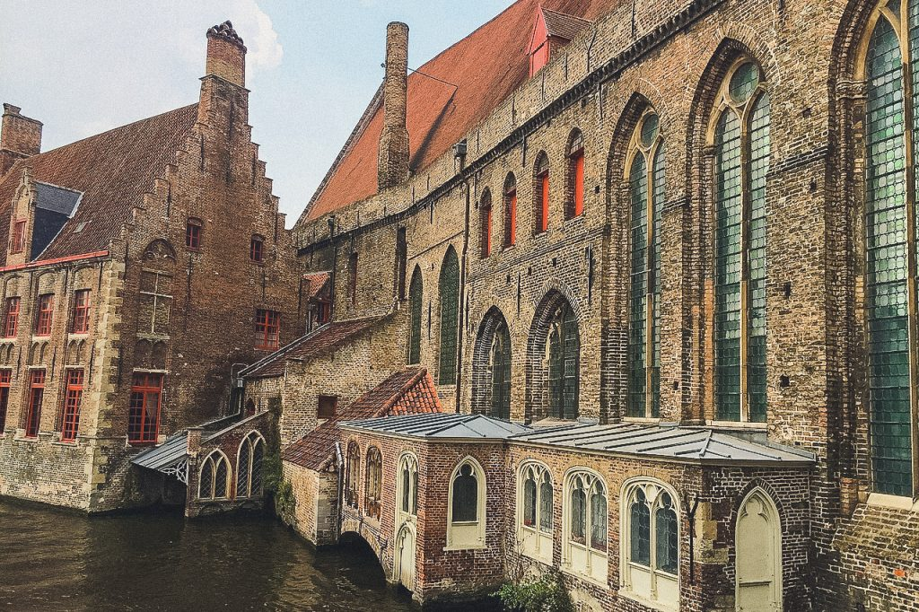 St. John's Hospital in Bruges viewed from the water