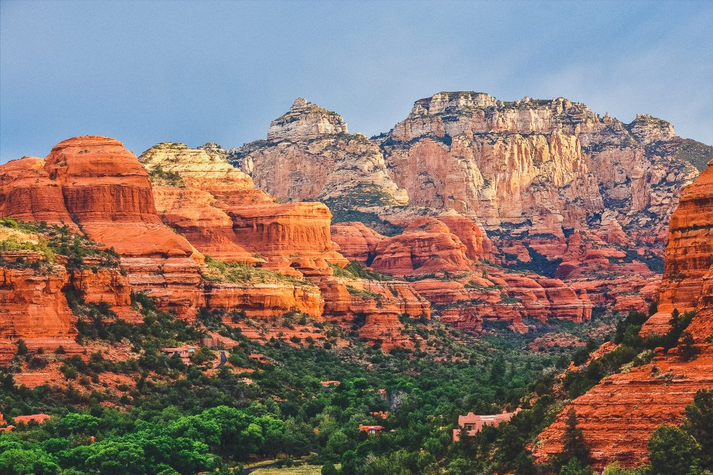 boynton canyon sedona arizona during sunrise