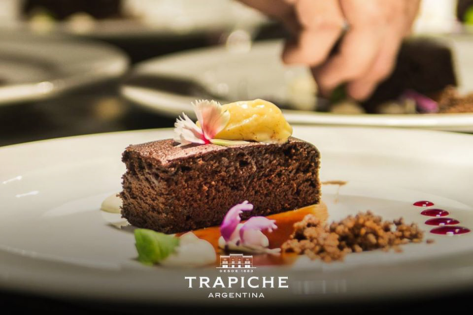 dessert served at Trapiche Winery