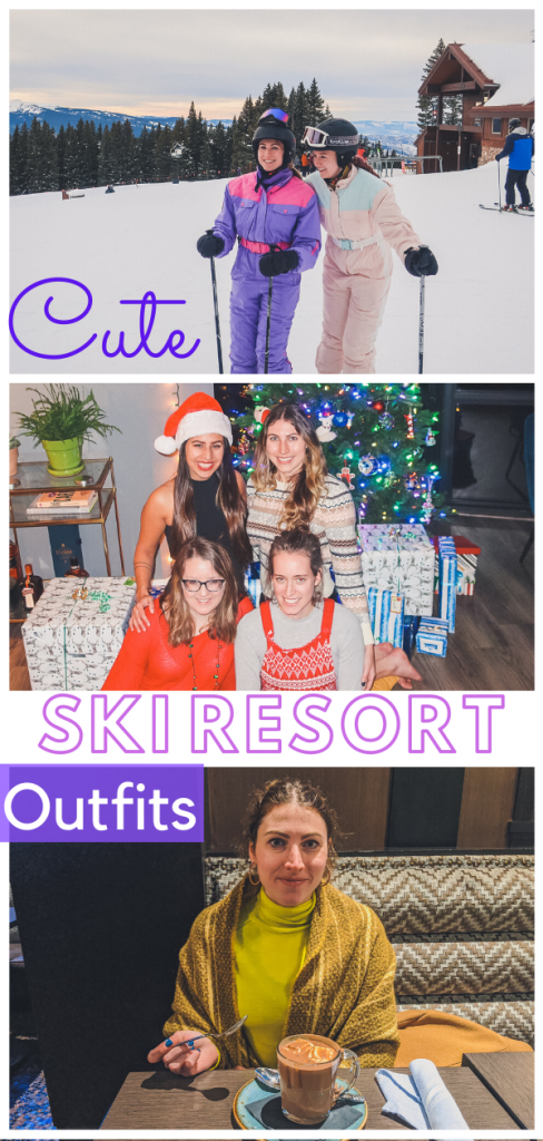 cute ski resort outfits pin
