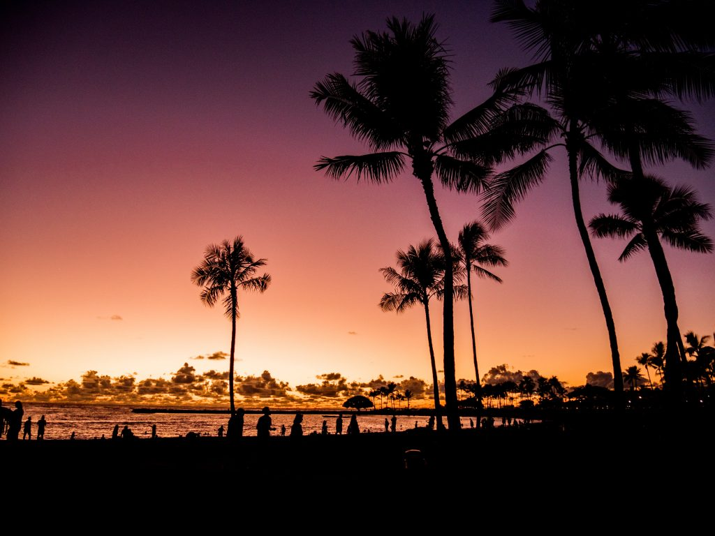 sunset in oahu
