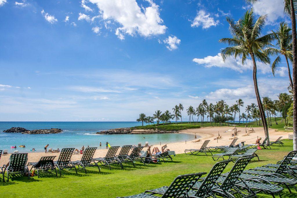 Ko Olina beach in Oahu