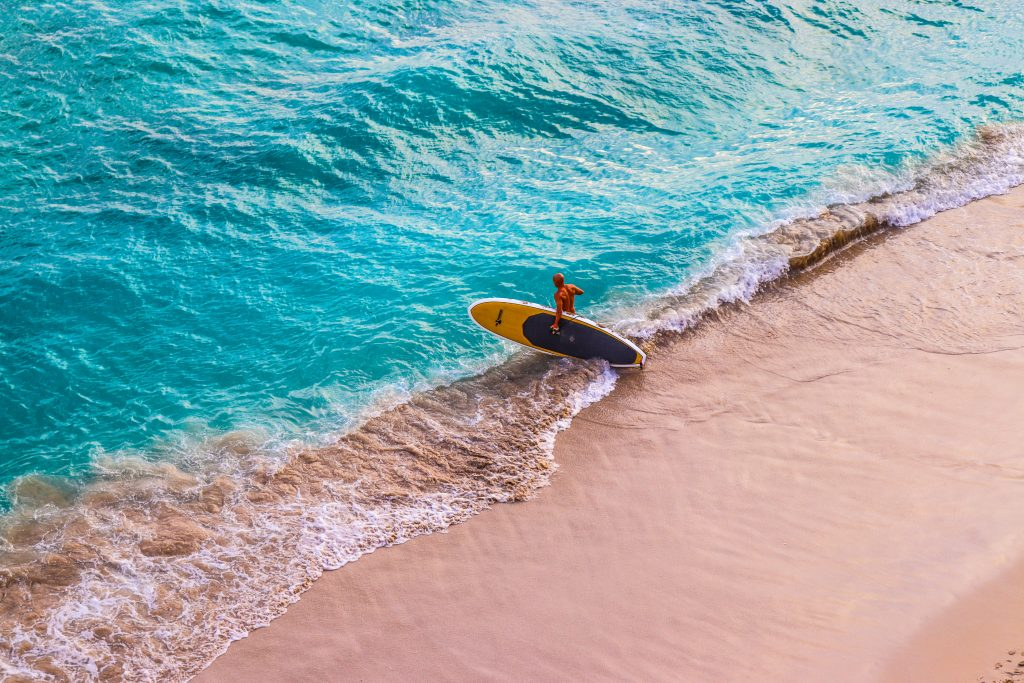 surfer in oahu hawaii