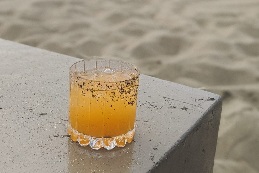 craft cocktail from Gallery Beach in Nantucket