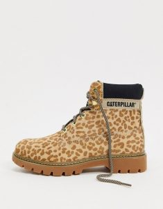 cheetah print hiking boots, women's