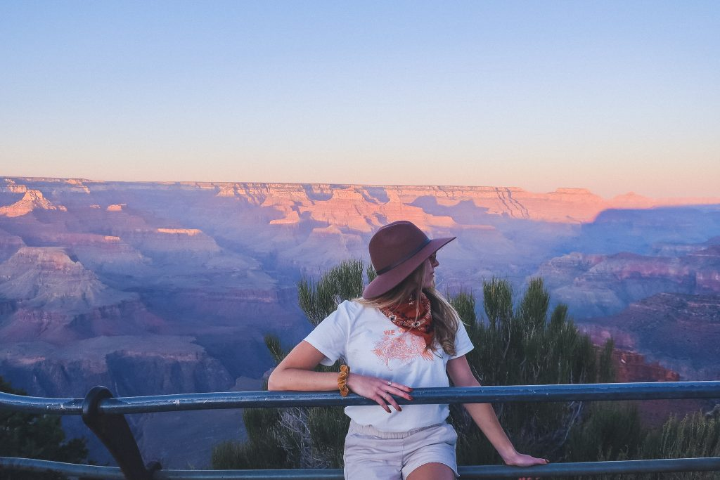 woman at the Grand Canyon
