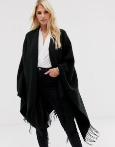 women's plain black cape