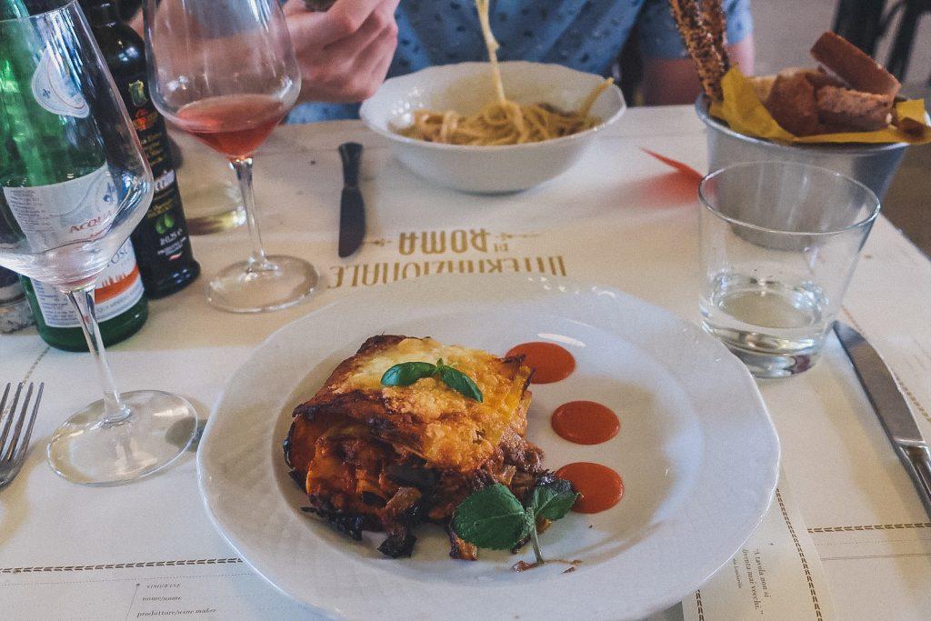 delicious Roman lasagna