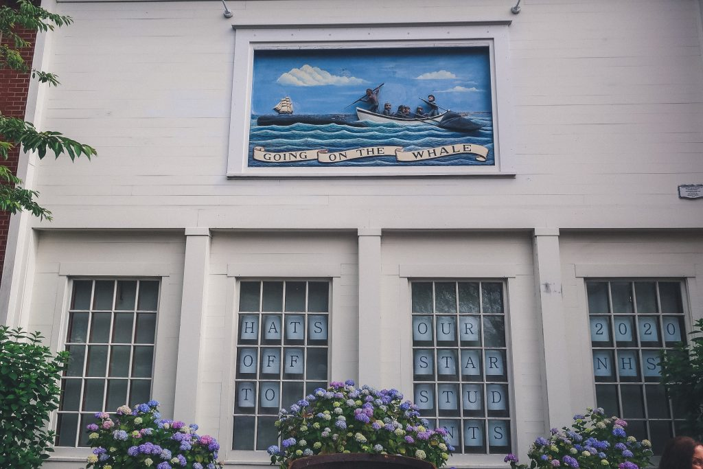 mural at Whaling Museum in Nantucket