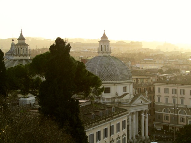 sunset from Pincio Rome