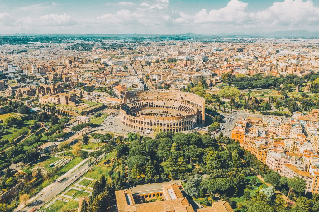 areal view of Rome