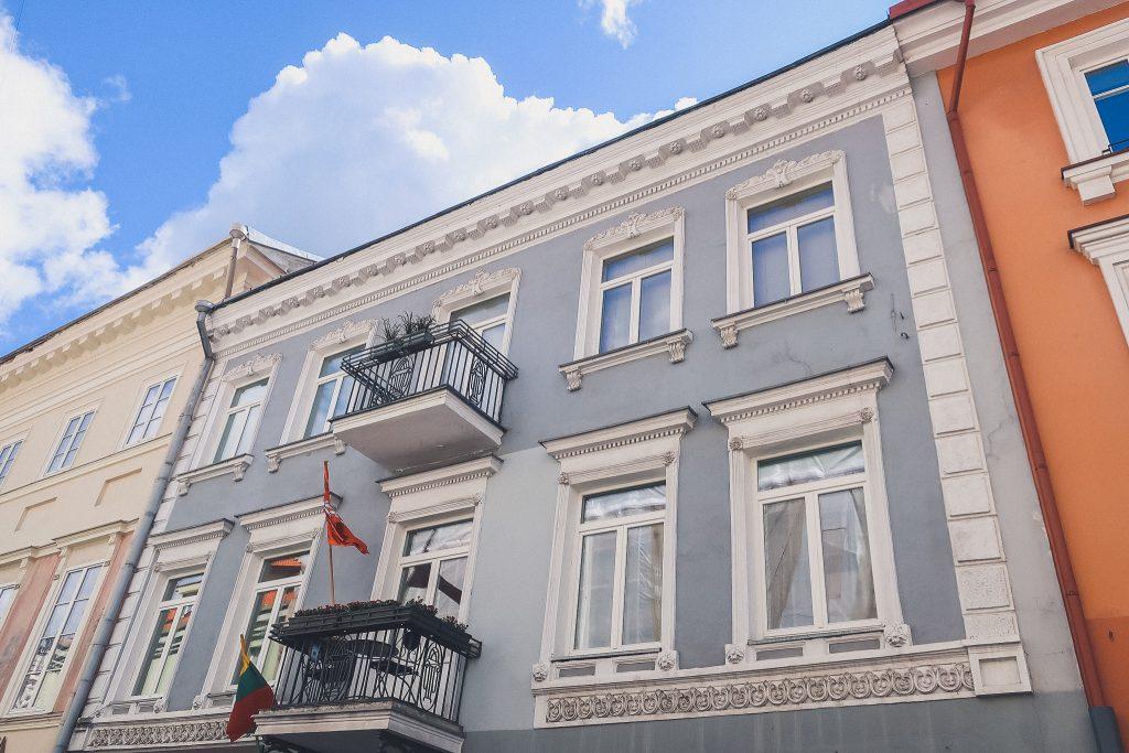 pretty buildings in Vilnius Lithuania