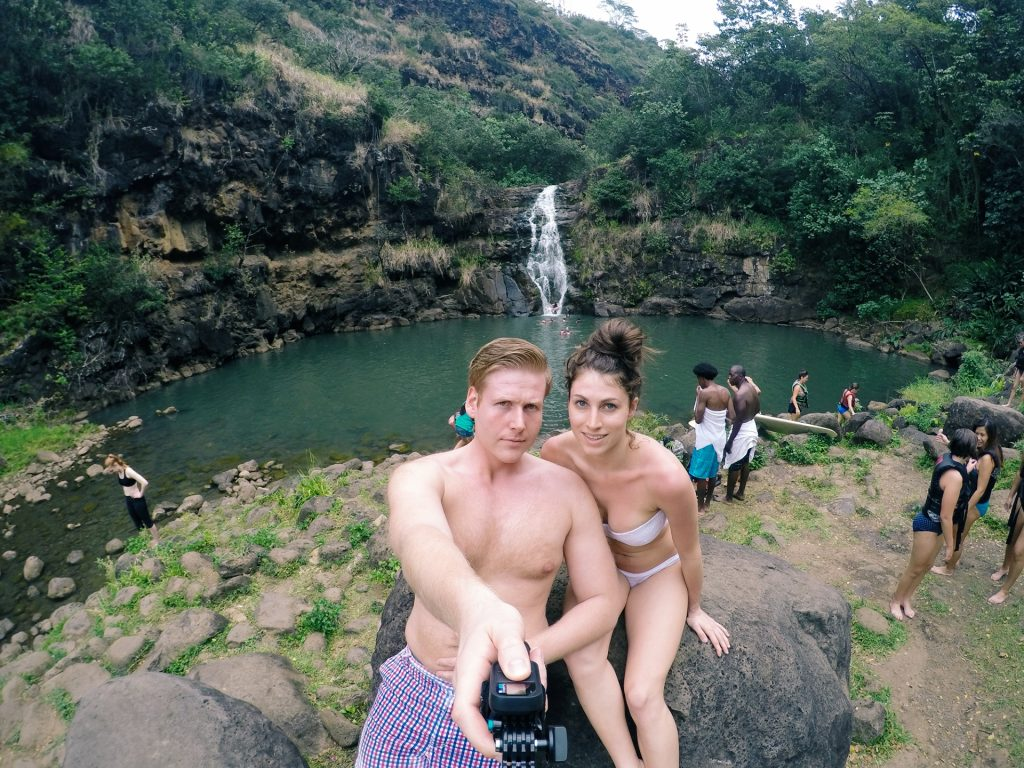 waterfall in Oahu