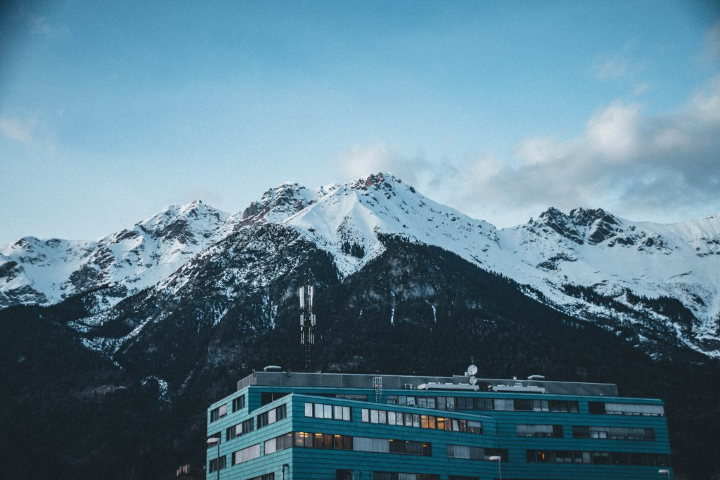 Innsbruck, mountains in the background
