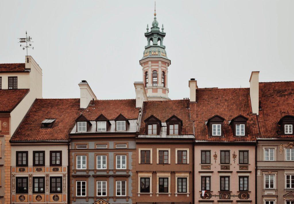 pretty buildings in Warsaw Poland