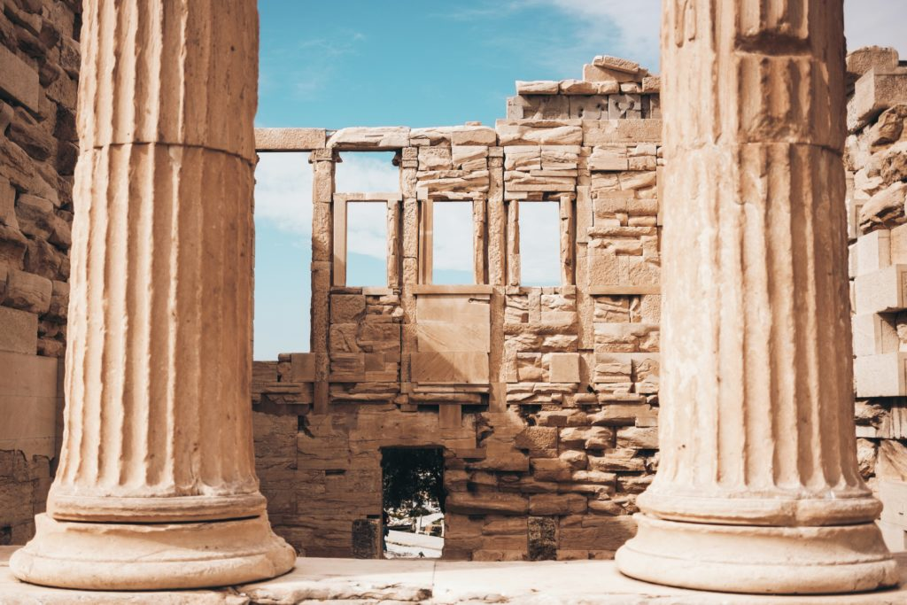 architecture in at hens, ancient ruins
