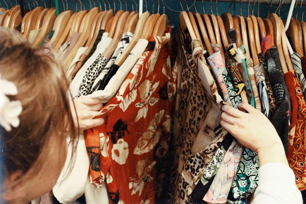 clothing rack, women's clothing