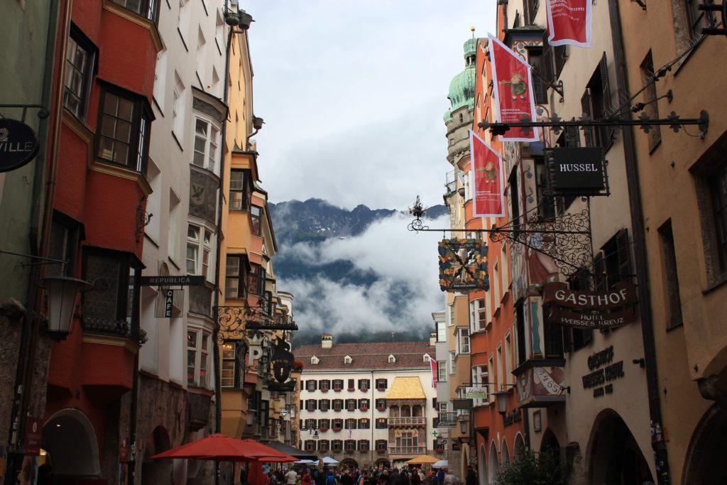 busy street in Innsbruck