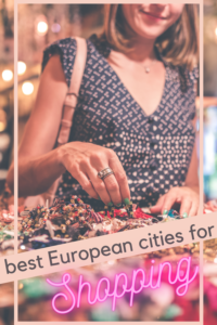 best cities in Europe for shopping pin