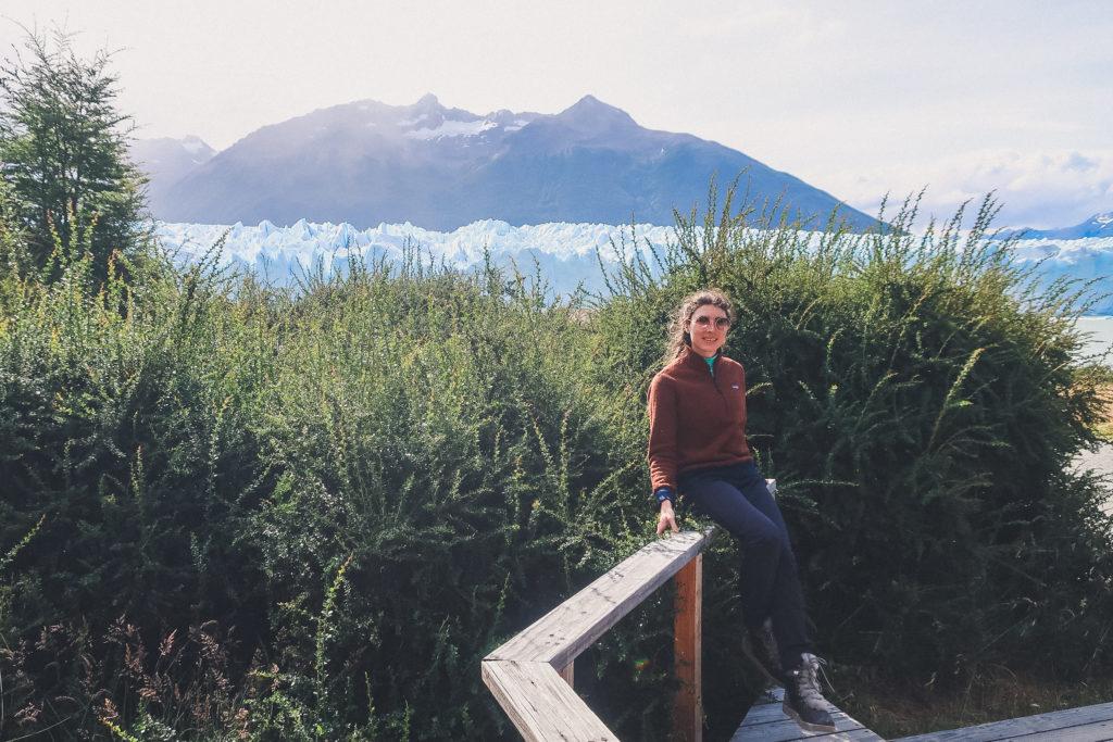 woman at Perito Moreno