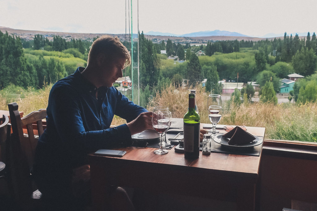 sipping patagonia wine