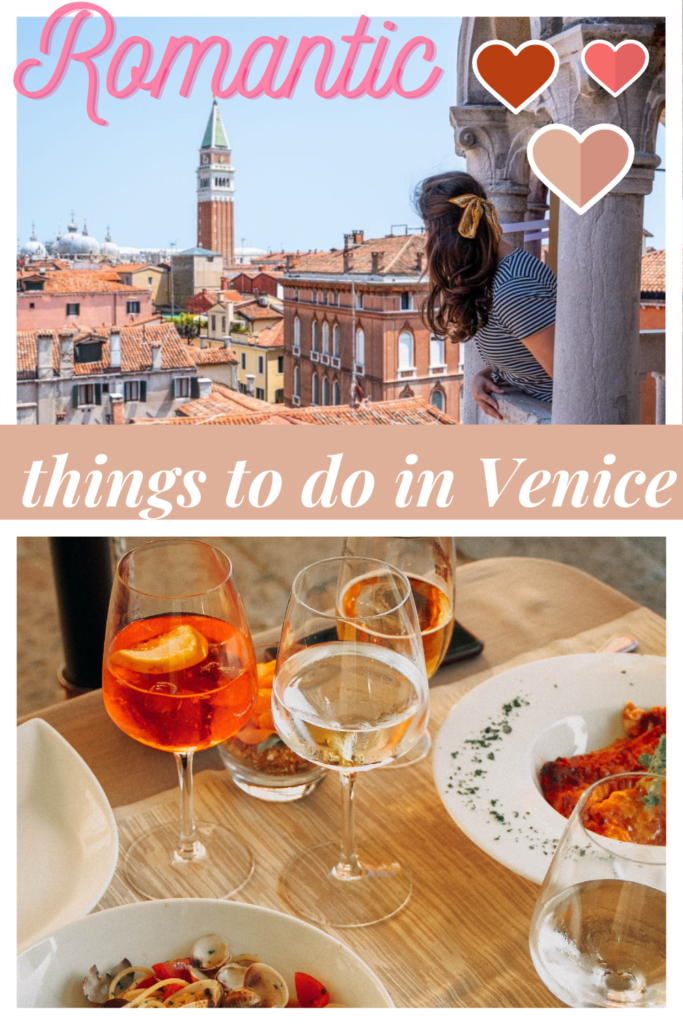 romantic things to do in Venice pin