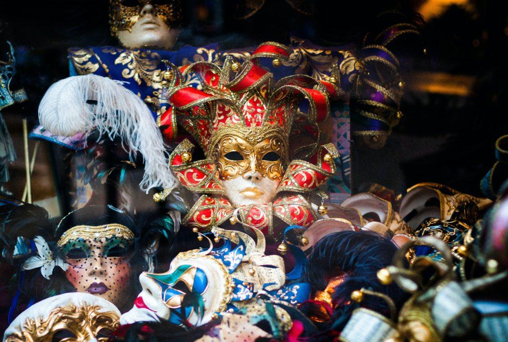 Venetian Style Carnival masks