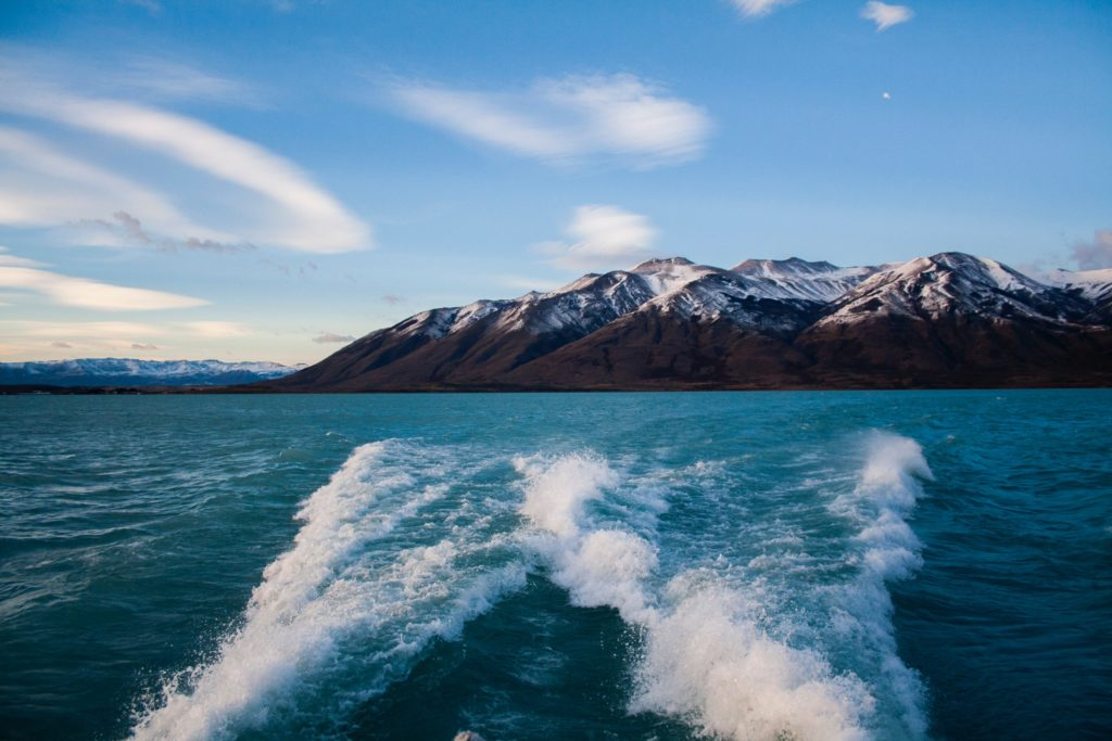 boat ride on Lake Argentino