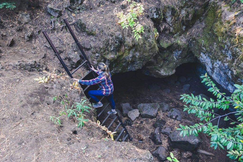 spelunking in Skylight Cave Oregon