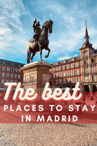 best places to stay in madrid pin